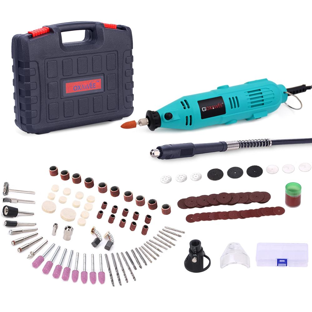 GOXAWEE Electric Drill Mini Drill Rotary Tool Grinder Engraver Pen Electric Rotary Tool For Dremel Grinding Machine Power Tools