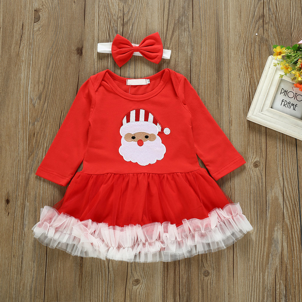 Franterd Toddler Baby Girl Stripe Dress Kids Cartoon Spring Winter Warm Dog Print Embroidery Dresses Clothes