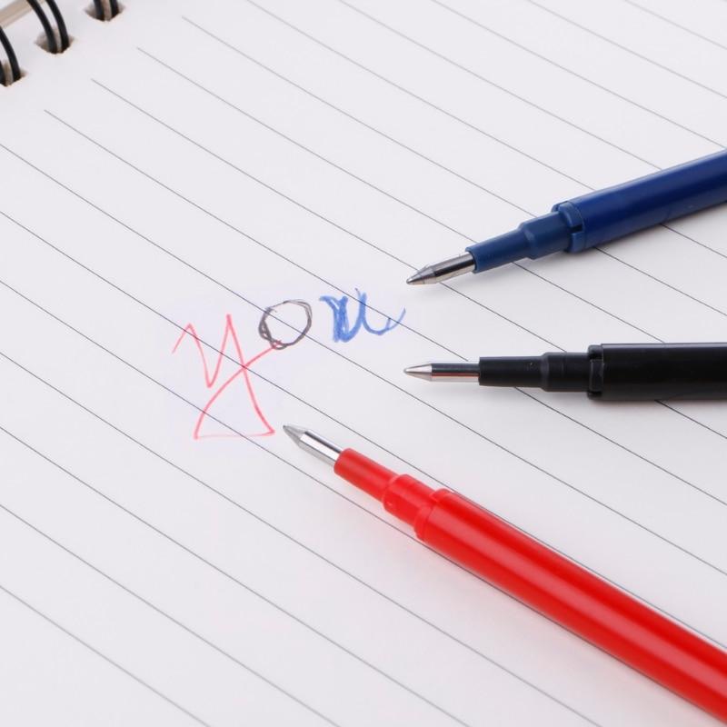 Купить с кэшбэком Erasable Friction Gel Ink Pen Refill 0.5mm Blue Black Red Stationery School