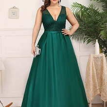 Prom-Dresses Gala Sequined Ever Pretty Ruched Elegant Plus-Size V-Neck Holiday for Girls