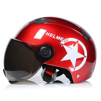 JIEKAI Motorcycle Helmets Electric Bicycle Helmet Open Face Dual Lens Visors Men Women Summer Scooter Motorbike Moto Bike Helmet 16