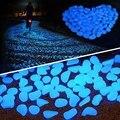 300 шт./упак. светящиеся маленькие камни, украшение для сада, светящиеся в темноте декоративные наружные аквариумные камни