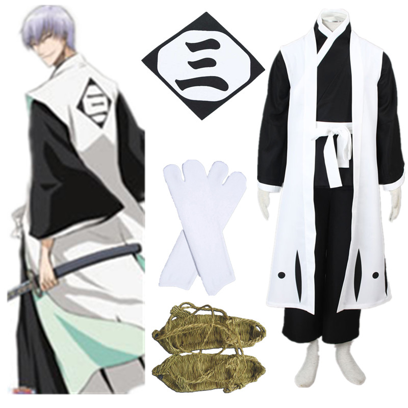 Bleach Ichimaru Gin Cool Halloween Cosplay Costume Halloween