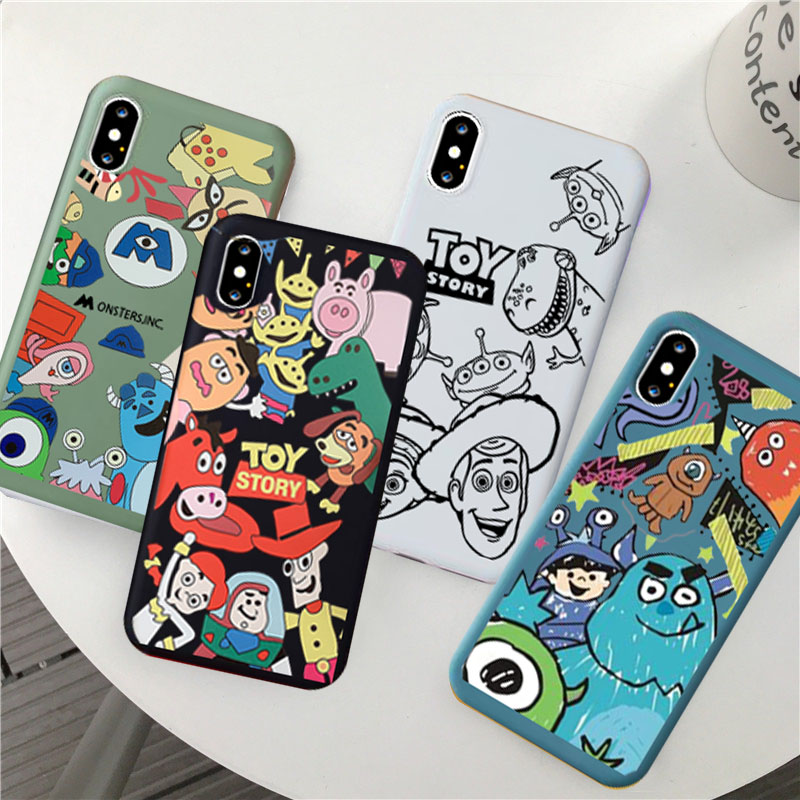 JAMULAR Cute <font><b>Toy</b></font> <font><b>Story</b></font> Phone Cases For <font><b>iPhone</b></font> XS MAX 7 11 Pro XR X 8 6s <font><b>6</b></font> Plus Monsters University Soft Back Cover Animal <font><b>Fundas</b></font> image