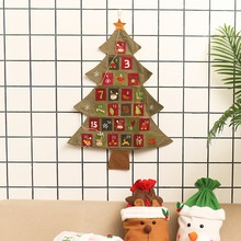 Christmas Tree Advent Calendar Is Coming Countdown Linen  Decoration