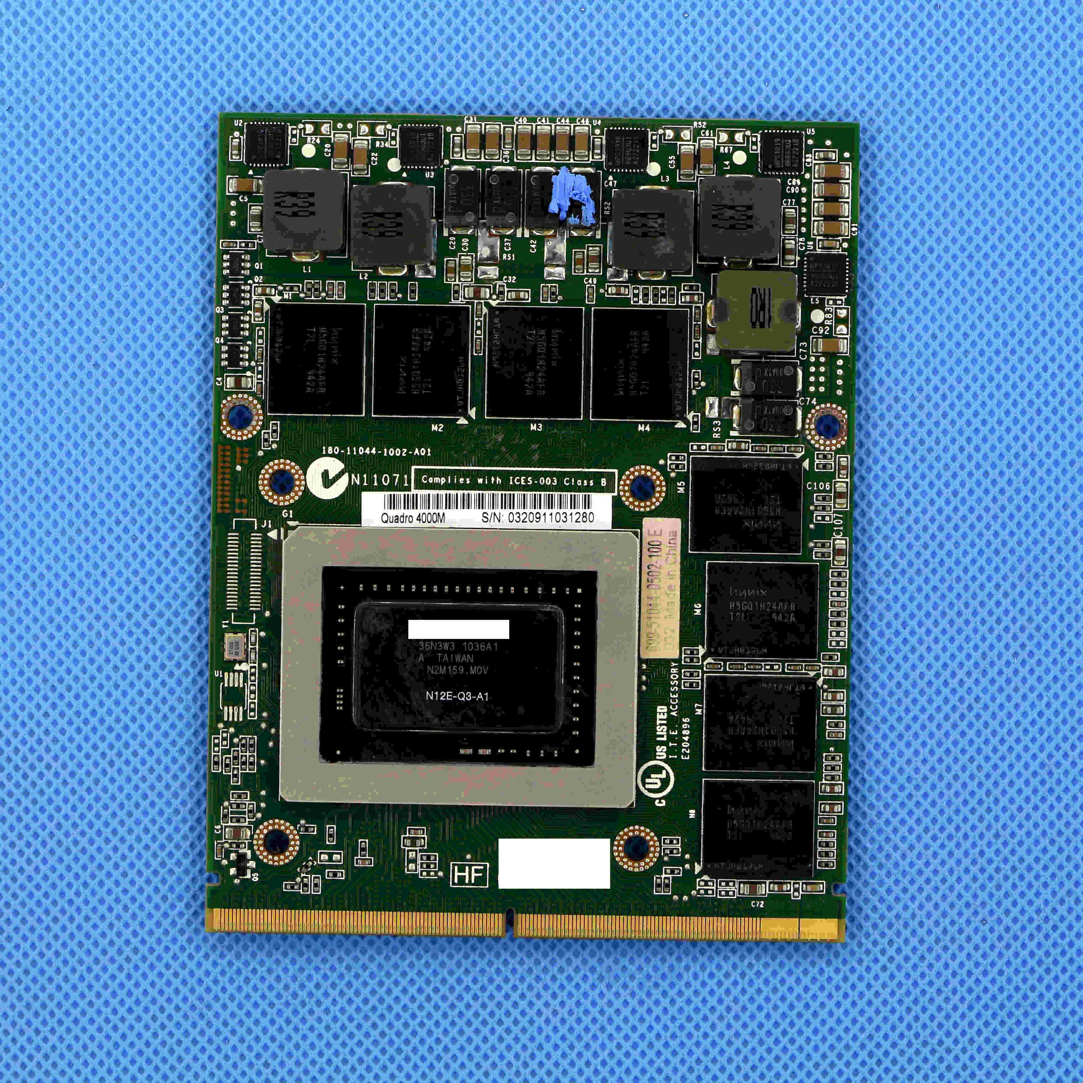 Genuine New 4000m Q4000M 2GB GDDR5 MXM 3.0b Video Card For Clevo P150HM P170HM P150EM P170HM