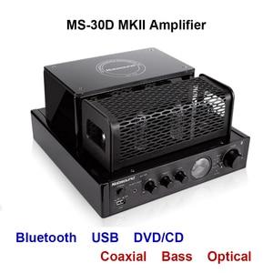 Image 1 - Nobsound MS 30D MKII Bluetooth Amplifier tube Amplifier support Bluetooth USB optical Coaxial Bass DVD CD input Amplifier