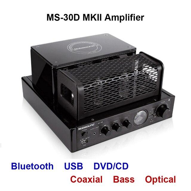 Nobsound MS 30D MKII Bluetooth Amplifier tube Amplifier support Bluetooth USB optical Coaxial Bass DVD CD input Amplifier