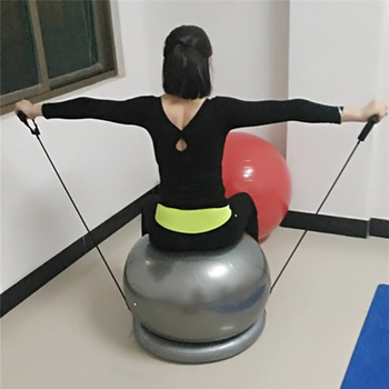 Yoga Balls Ring Base Pilates Fitness Gym Explosion-proof Fitball Shaping Weight Loss Workout Training Yoga Ball Fixed Base