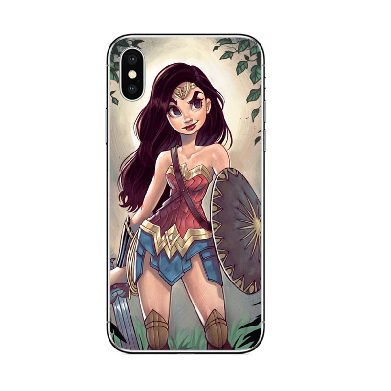 Avengers Marvel Superwoman Phone Case for apple iphone 7 8 6 6S PLUS 5 5S SE X XR XS MAX cases Marvel super man hero cover coque in Half wrapped Cases from Cellphones Telecommunications