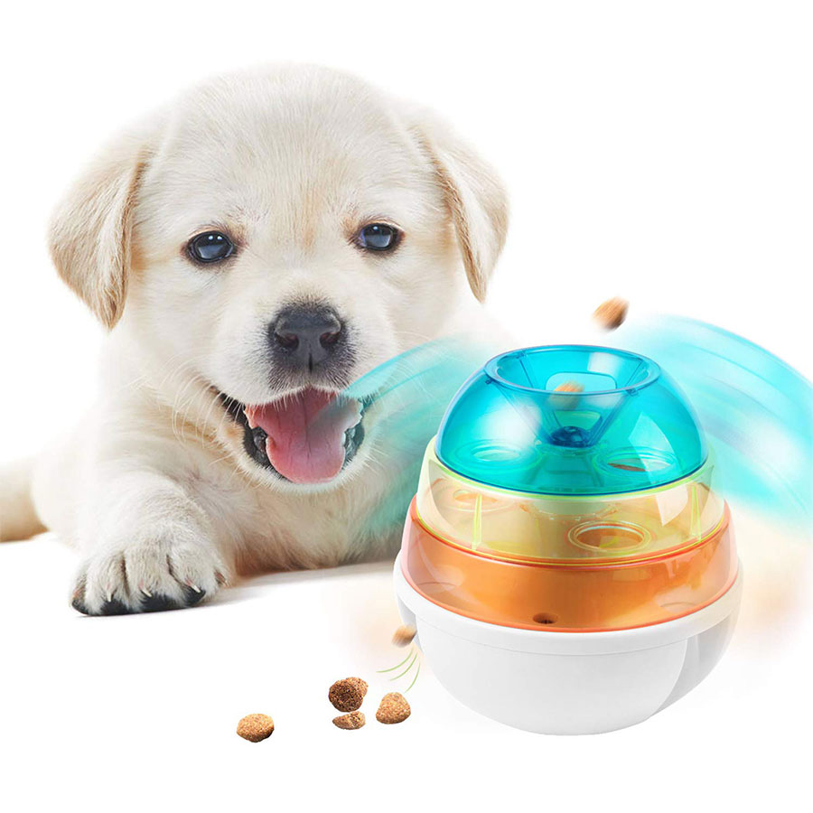 Interactive Dog Toys Tumbler Leakage Food Dispenser  Increases IQ Mental Stimulation for Puppy Cat Toy Pet products
