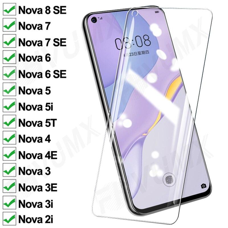 100D анти-всплеск Защитное стекло для Huawei Nova 4 4E 3 3E 3i 2i Nova5 5i 5T защита экрана nova 6 7 8 SE Закаленное стекло пленка