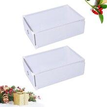 2PCS Transparent Shoes Storage Organizer Drawer Type Shoes Box for Girls (White)