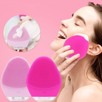 Mini Electric Face Cleansing Brush Silicone Sonic Cleaner Deep Pore Cleaning Waterproof Skin Care Massager Beauty soft silicone facial face deep cleansing clean wash pore skin care brush mini electric face washing exfoliating machine massager
