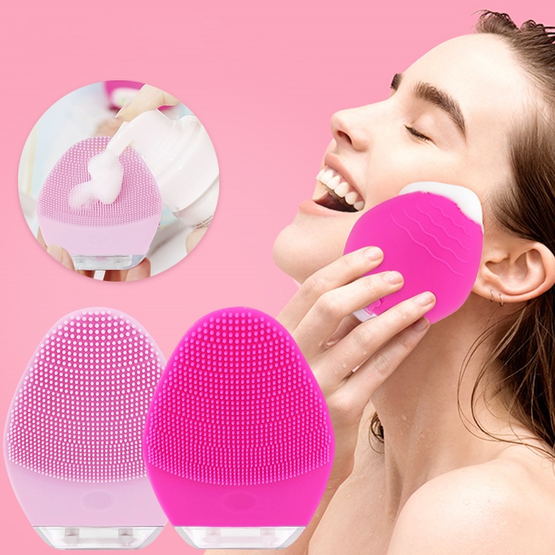 Mini Foreoing Vibration Electric Face Cleaning Brush Cepillo Facial Massager Pore Cleaning Sonic For Skin Acne Black Head