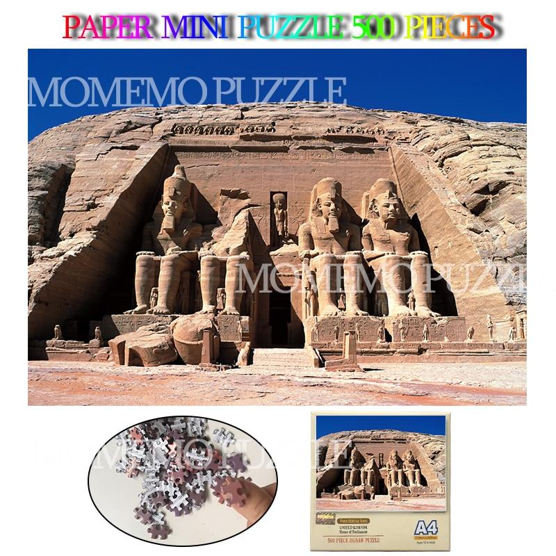 Abu Simbel Mini Paper Puzzles Toys Egypt Historic Building Landscape Paper Mini 500 Pieces Jigsaw Puzzles Adults Brain Challenge