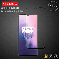 YIYONG 9D funda completa templada de OnePlus 7 T 8T 6T Protector de pantalla para OnePlus 8 Pro Nord 7 T Pro 3D de vidrio curvado