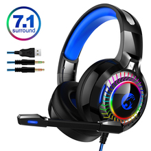 7.1 Sound PS4 Gaming Headset casque Wired PC Stereo Earphones Headphones with Microphone for New Xbox/Laptop Tablet Gamer