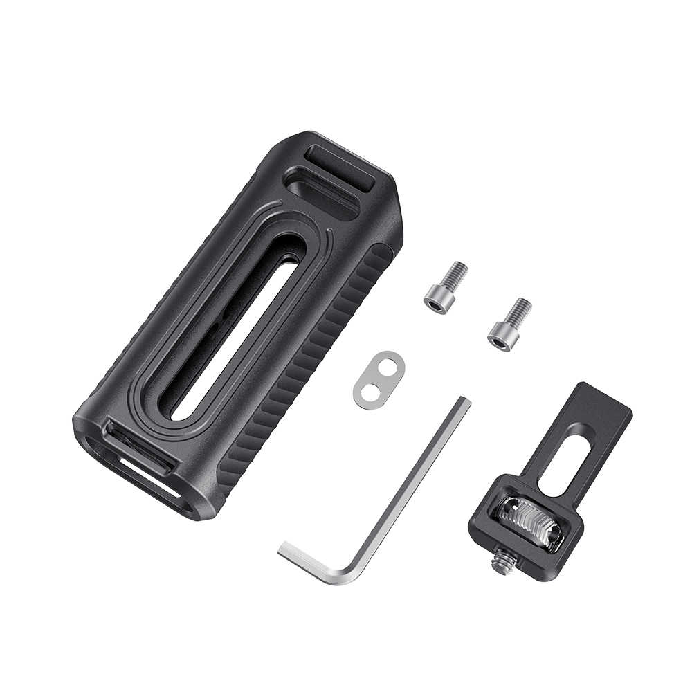 Punho lateral de alumínio do punho da gaiola do telefone móvel smallrig com sapata fria para o punho universal da liberação rápida da gaiola do smartphone-2424