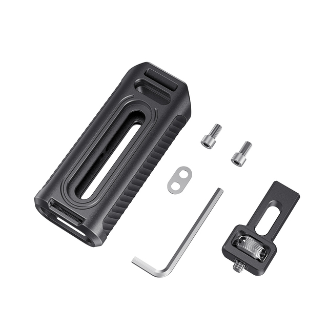 SmallRig Mobile Phone Cage Handle Aluminum Side Handle With Cold Shoe for Universal Smartphone Cage Quick Release Handgrip -2424