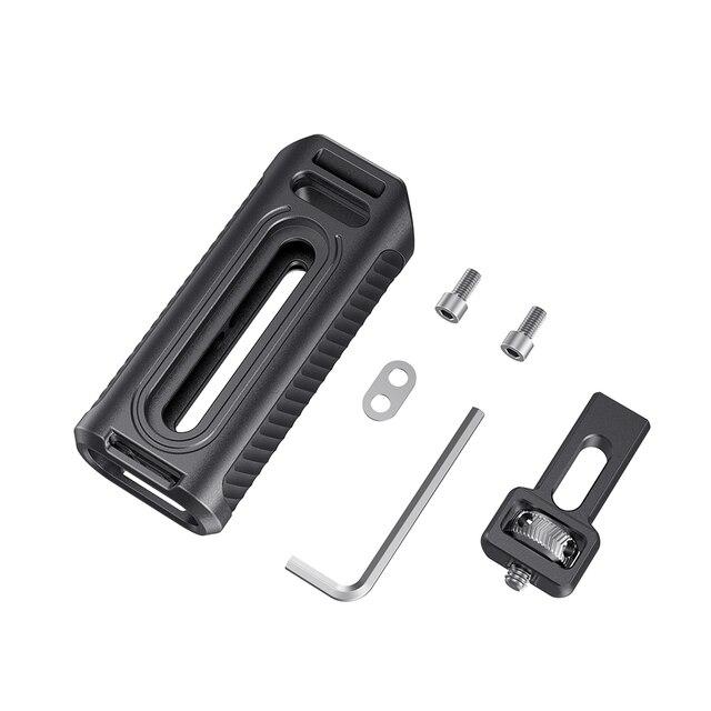 Uchwyt na telefon komórkowy SmallRig aluminiowy uchwyt boczny z zimnym butem do wszystkich smartfonów Cage Quick Release Handgrip -2424