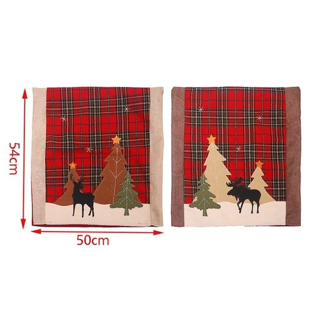 Купить 2 шт рождественские чехлы для стульев кухонные чехлы обеденных картинки цена