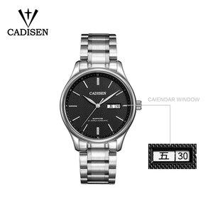 Image 3 - Мужские механические часы CADISEN 2019, роскошные брендовые автоматические механические часы, военные деловые водонепроницаемые мужские часы с календарем
