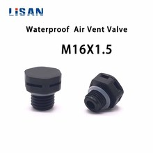 JIAF 10Pcs M16*1.5 Nylon Waterproof Air Vent Valve Screw In Protective Vent Plug E-PTFE Plastic Breather Vent Valve