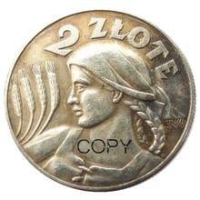 A polónia 2 Zlote 1925 Cópia Moeda de Prata Banhado
