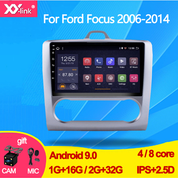 9 Android 9.0 For ford focus Mk2 2006-2014 2 Car Radio Multimedia Video Player Navigation GPS RDS autoradio mic no 2 din dvd image