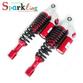 Universal 270mm-330mm Motorcycle/Scooter Rear Suspension Rebound Damping Round Shock Absorber for Honda-Yamaha-Kawasaki-Ducati universal 330mm motorcycle scooter electric bick rear shock absorber air damping for honda yamaha harley ducati kawasaki tnt bmw