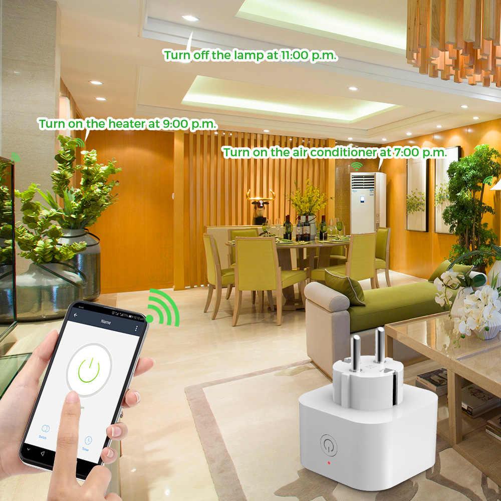 2/4 pièces Elelight WiFi prise intelligente prise de courant télécommande prise intelligente prise électrique prises murales ue prise électrique universelle