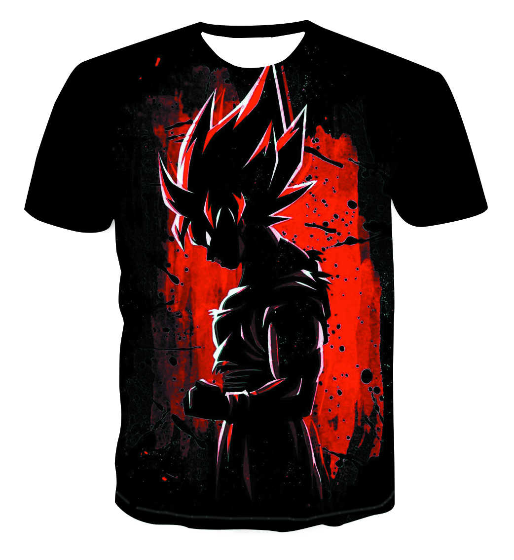 Nieuwe Dragon Ball Z T Shirts Heren Zomer 3D Print Super Saiyan Goku Zwart Zamasu Vegeta Dragonball Casual T-shirt tops Tee