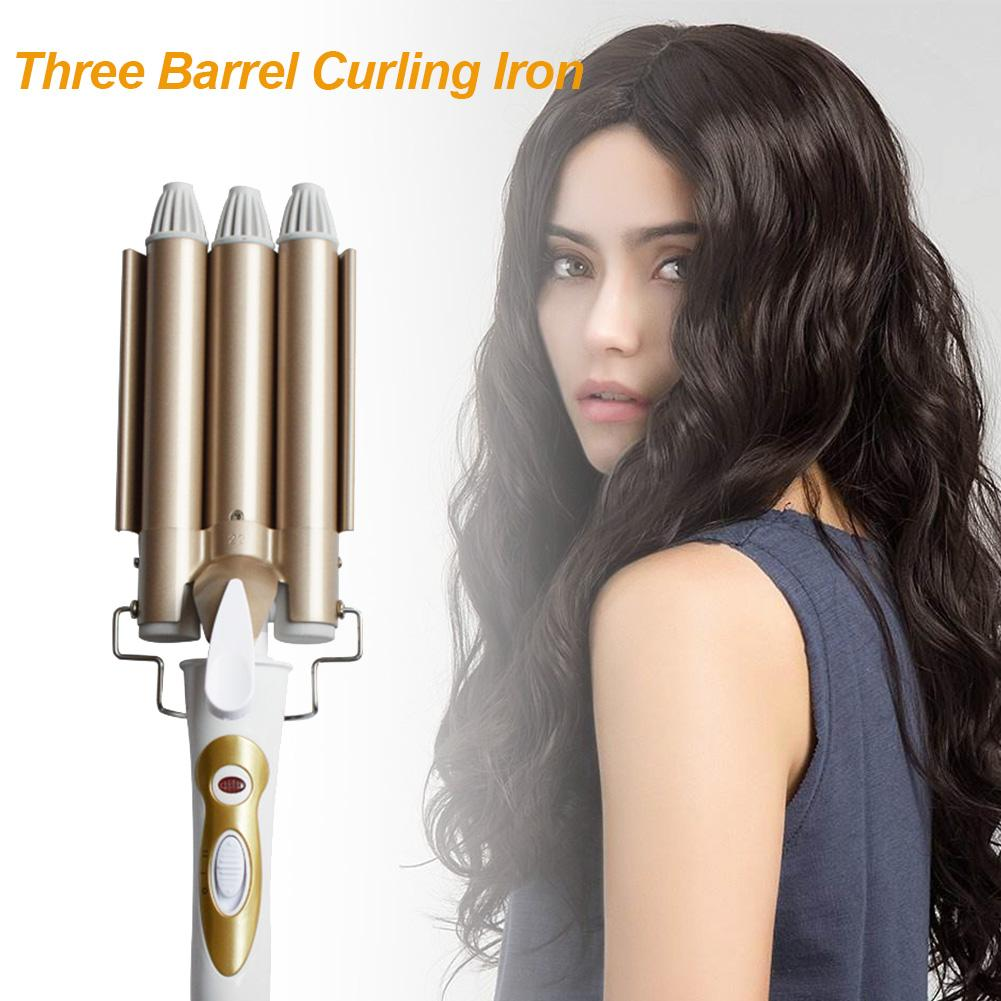 Hair Styling Curler Three Stick Water Corrugated Egg Roll Irons Big Volume Perm Volume Aluminum Alloy Clip Wave Hair Curler Tool