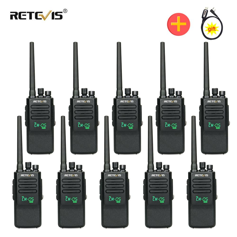High Power DMR Radio Digital IP67 Waterproof Walkie Talkie10pcs Retevis RT50 Display UHF VOX Portable 2 Way Radio Walkie-Talkie