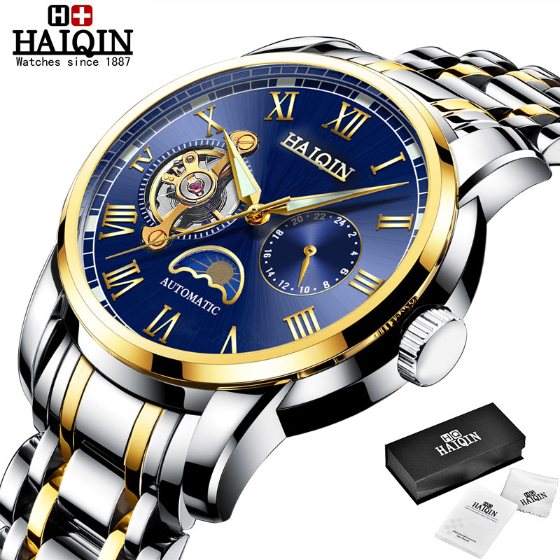 HAIQIN Mechanical watches mens automatic wrist watch for mens watches top brand luxury watch men Tourbillon relojes hombre 2020 10