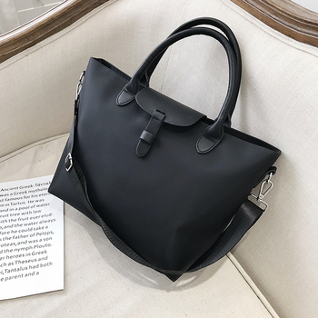 Casual Large Capacity Women Totes Bag Pu Leather+Oxford Shoulder Bags Famous Brand Crossbody Bags For Women 2019 Purses Handbags zmqn women leather handbags oil wax soft leather hand bags large capacity crossbody bags famous brand portable strap adjustable