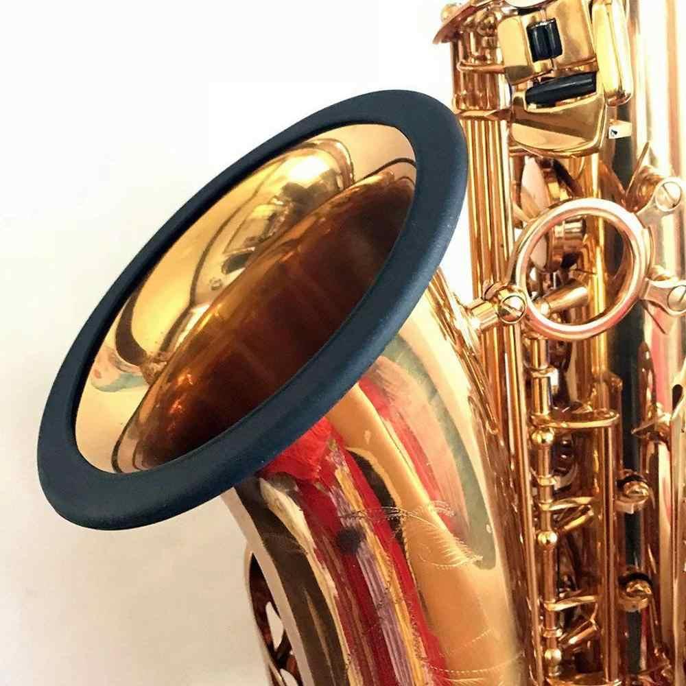 1 pieza nuevo Protector de campana de silicona de saxofón caliente 3 tamaños anillo silencioso para los amantes de la música accesorios de saxofón accesorios de instrumentos