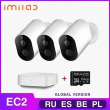كاميرا منزلية IMILAB EC2 كاميرا لاسلكية في الهواء الطلق الأمن 1080P بطارية قابلة للشحن واي فاي كاميرا مراقبة داخلية/خارجية