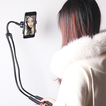 Mobile phone holder lazy hanging neck phone stands necklace bracket bed 360 degree phones holder stand for iphone xiaomi huawei