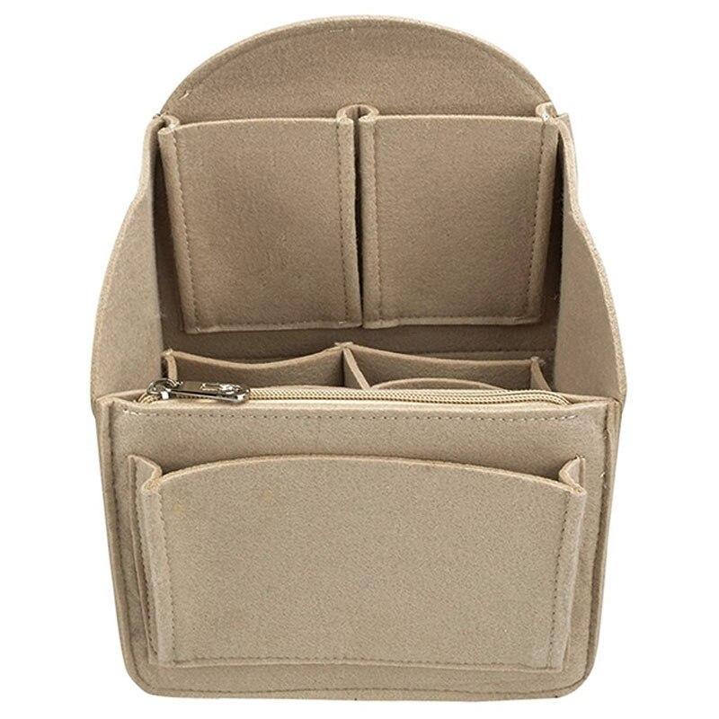 Felt Backpack Insert Organizer Storage Bag Universal Bag In Bag Men Women Shoulder Tote Bags Handbag Organizers(Dark Khaki)|Foldable Storage Bags|Home & Garden - title=
