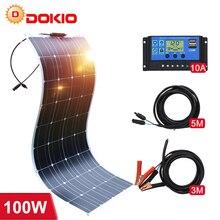 Dokio Panel Solar Flexible para coche/barco/hogar, 12V, 100W, 200W, 18V, batería Solar monocristalina, resistente al agua, China