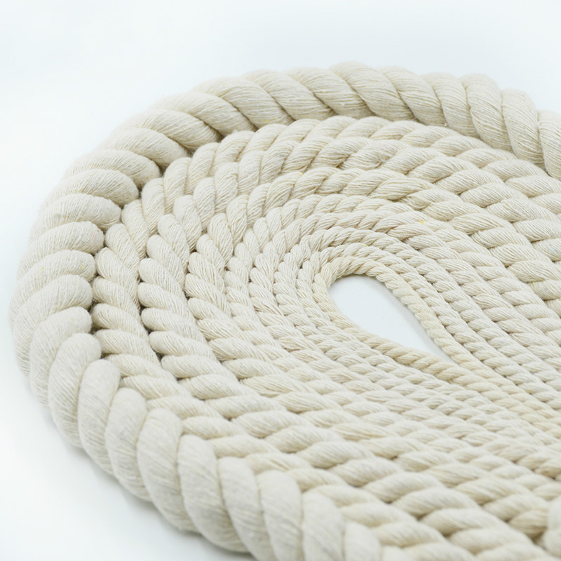2mm-20mm 3 Shares Twisted Cotton Rope Home Wall Decoration Tapestry Woven Cords Macrame Rope Handmade DIY Textile Accessories
