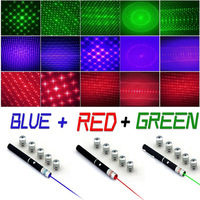 Caza 2 en 1 de alta potencia puntero láser verde desmontable 4 tapa láser rojo púrpura mira láser 5000m 532nm lazer pen|Láseres| |  -