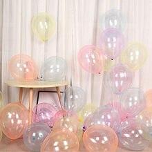 12 inç renkli kristal balon Bobo doğum günü partisi şeffaf temizle lateks balonlar düğün dekor helyum topları