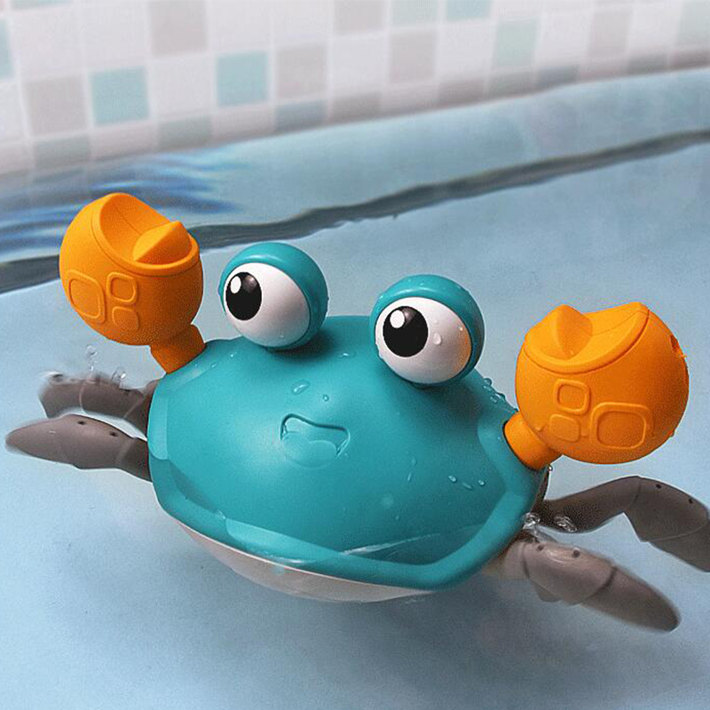 Baby Ship Crab Wind Up Toy Float In Water Kid Toys Classic Clockwork Toys Summer Beach Sand Shower Bath Toy for Children Boys