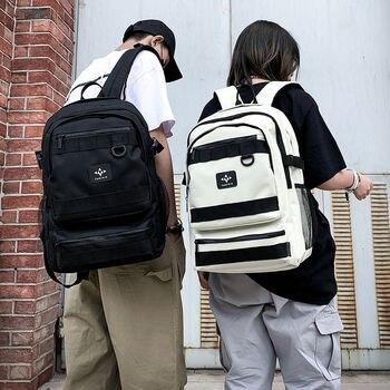 Leisure Cool Boys School Bags for Teenage Girls Student High School Backpack Men Women Bookbag Large Capacity Preppy Style