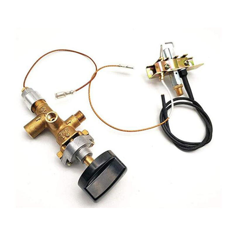 1Piece Propane Fire Pit Main Control Brass Safety Valve Fireplaces Replacement Pilot Assembly Kit