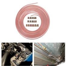 Nowy wysokiej jakości 25 Ft Cewka rolkowa 3 16 #8222 OD miedziany nikiel przewód hamulcowy antykorozyjny odporny na korozję zestaw przewodów rurowych #295482 tanie tanio 3 16 in O D 0 28 in 25 ft Coils ( 25ft=300inch=7 62M ) 630g It won t rust corrosion resistance extremely easy to bend by hand