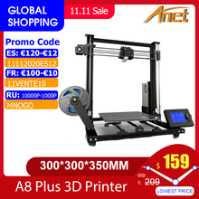 Nieuwe Anet A8 Plus Verbeterde Hoge Precisie Diy 3D Printer Zelf assemblage 300*300*350Mm grote Print Size Aluminium Frame